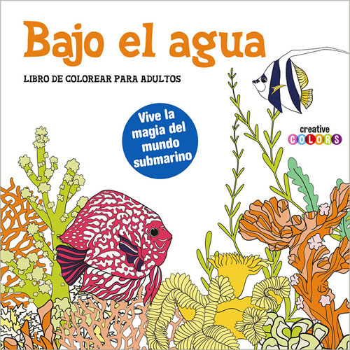 Librería Morelos | BAJO EL AGUA: LIBRO DE COLOREAR PARA ADULTOS