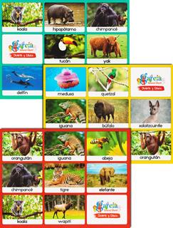 LOTERIA ANIMALES (INCLUYE TABLERO Y 32 TARJETAS)