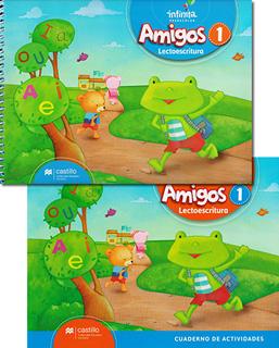 AMIGOS 1 LECTOESCRITURA PREESCOLAR INCLUYE...