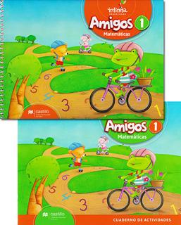 AMIGOS 1 MATEMATICAS PREESCOLAR INCLUYE CUADERNO...