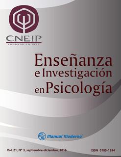 ENSEÑANZA E INVESTIGACION EN PSICOLOGIA VOL. 21 NO. 3