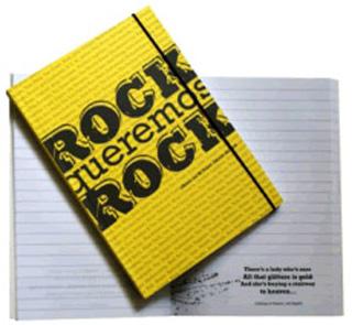 ROCK QUEREMOS ROCK: LIBRETA CON 80 FRASES...