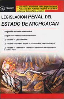 LEGISLACION PENAL DEL ESTADO DE MICHOACAN 2019