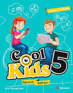 COOL KIDS 5 PACK STUDENTS BOOK + COOL READING + CD + CODIGO DE ACCESO RICHMOND SPIRAL