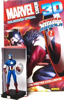 SUPER HEROES MARVEL 3D CAPITAN AMERICA (INCLUYE...