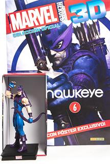SUPER HEROES MARVEL 3D HAWKEYE (INCLUYE FIGURA...