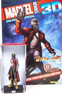 SUPER HEROES MARVEL 3D STAR LORD (INCLUYE FIGURA...
