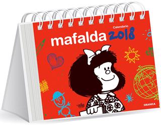 CALENDARIO DE ESCRITORIO 2018 MAFALDA (ROJO)