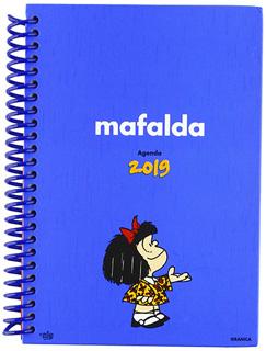 AGENDA MAFALDA 2019 AZUL CLARA (ANILLADA)