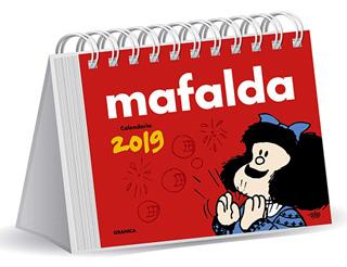MAFALDA 2019 CALENDARIO ESCRITORIO ROJO