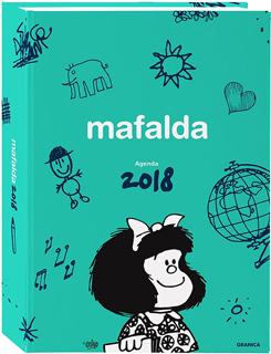 AGENDA 2018 MAFALDA: PAGINA POR DIA (VERDE)