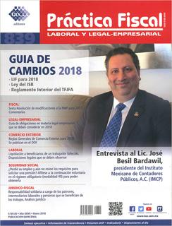 REVISTA PRACTICA FISCAL NUM 839 1A. ENERO 2018