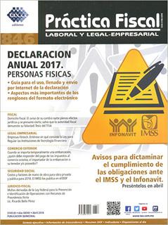 REVISTA PRACTICA FISCAL NUM 846 2A. ABRIL 2018