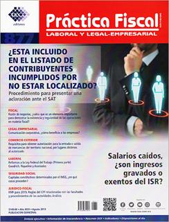 REVISTA PRACTICA FISCAL NUM 877 1A. DE AGOSTO DEL...