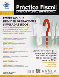REVISTA PRACTICA FISCAL NUM 878 2A. DE AGOSTO DEL...