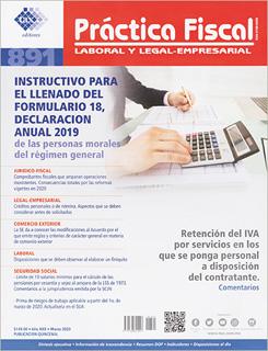 REVISTA PRACTICA FISCAL NUM 891 1A. DE MARZO DEL...