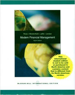 MODERN FINANCIAL MANAGEMENT (VERSION EN INGLES)
