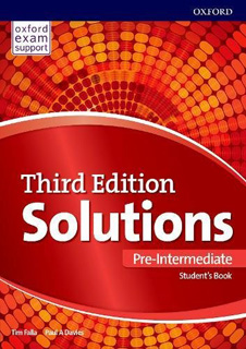 SOLUTIONS PRE-INTERMEDIATE STUDENTS BOOK & ONLINE...