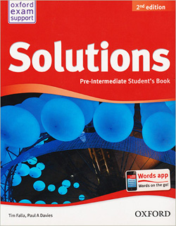 SOLUTIONS PRE-INTERMEDIATE STUDENTS BOOK