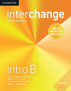 INTERCHANGE INTRO B STUDENTS BOOK WITH ONLINE SELF STUDY AND ONLINE WORKBOOK