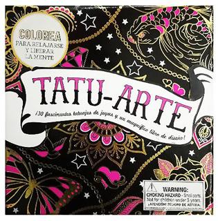 COLOREA PARA RELAJARSE Y LIBERAR LA MENTE: TATU-ARTE