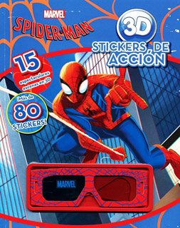 MARVEL SPIDERMAN 3D STICKERS DE ACCION