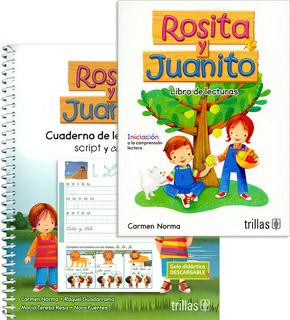 ROSITA Y JUANITO, CUADERNO DE LECTOESCRITURA Y LIBRO DE LECTURAS