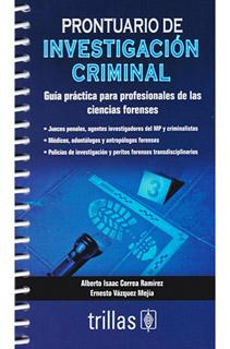 PRONTUARIO DE INVESTIGACION CRIMINAL