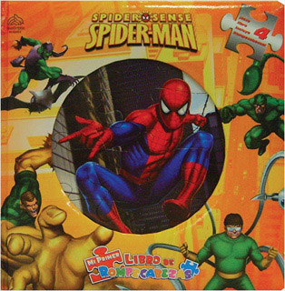 SPIDER-MAN SPIDER SENSE (LIBRO CON 4 ROMPECABEZAS)