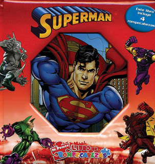 SUPERMAN (LIBRO CON 4 ROMPECABEZAS)