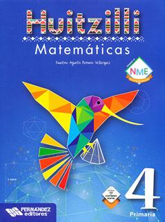 MATEMATICAS 4 PRIMARIA HUITZILLI (INCLUYE CD)