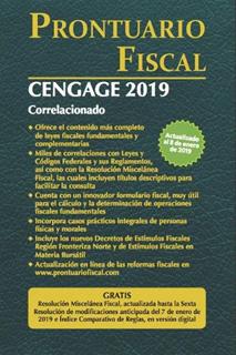 PRONTUARIO FISCAL CENGAGE 2019
