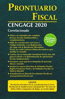 PRONTUARIO FISCAL CENGAGE 2020 CORRELACIONADO