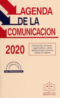 AGENDA DE LA COMUNICACION 2020