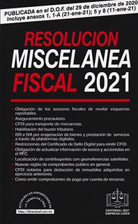 RESOLUCION MISCELANEA FISCAL 2021
