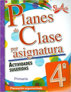PLANES DE CLASE POR ASIGNATURA 4 PRIMARIA...