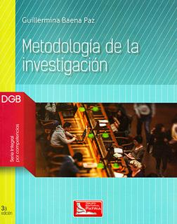 METODOLOGIA DE LA INVESTIGACION DGB (SERIE INTEGRAL POR COMPETENCIAS)