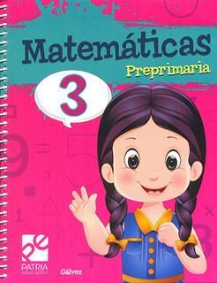 MATEMATICAS 3 PREPRIMARIA