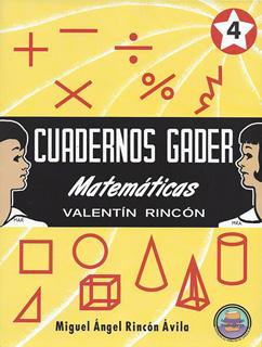 CUADERNOS GADER MATEMATICAS 4