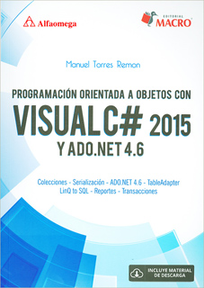 PROGRAMACION ORIENTADA A OBJETOS CON VISUAL C# 2015 Y ADO.NET 4.6