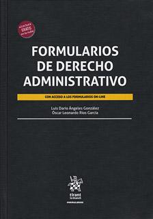 FORMULARIOS DE DERECHO ADMINISTRATIVO (INCLUYE...