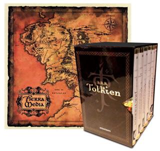ESTUCHE TOLKIEN (6 VOLUMENES Y UN MAPA)