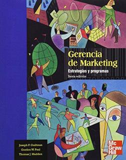 GERENCIA DE MARKETING: ESTRATEGIAS Y PROGRAMAS