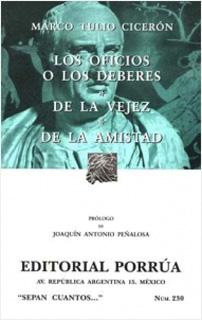 LOS OFICIOS O LOS DEBERES - DE LA VEJEZ - DE LA...