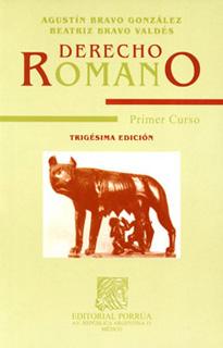 DERECHO ROMANO PRIMER CURSO