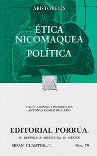 ETICA NICOMAQUEA - POLITICA