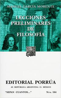 LECCIONES PRELIMINARES DE FILOSOFIA