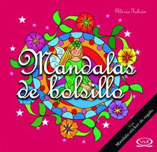 MANDALAS DE BOLSILLO 8 MAGENTA (CON STICKERS)